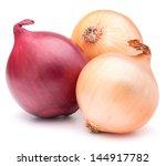 Onion Vegetable Bulbs Isolated...