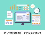 search engine ranking flat... | Shutterstock .eps vector #1449184505