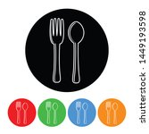 silverware fork and spoon icon... | Shutterstock . vector #1449193598