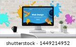 web design studio with modern...
