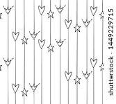 cute black line vertical... | Shutterstock .eps vector #1449229715