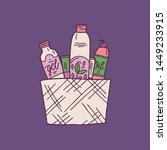 set natural organic cosmetics... | Shutterstock .eps vector #1449233915