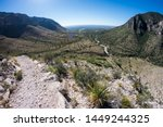 Landscape view of Guadalupe Mountains National Park during the day in Texas.