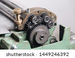 gears mechanism top copper ... | Shutterstock . vector #1449246392