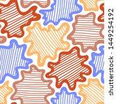 colorful stripped splashes.... | Shutterstock .eps vector #1449254192