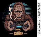 Game Addicted Bigfoot Vector...