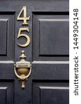 house number 45 with the forty... | Shutterstock . vector #1449304148