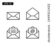 Mail Envelope Icon Vector...