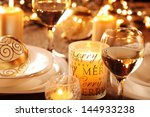 holiday setting and decorations ... | Shutterstock . vector #144933238