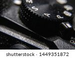 Macro closeup of the Panasonic camera mode dial