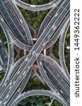 aerial view of highway and... | Shutterstock . vector #1449362222