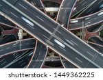 aerial view of highway and... | Shutterstock . vector #1449362225