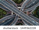 aerial view of highway and... | Shutterstock . vector #1449362228