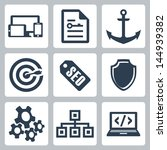 vector isolated seo icons set  2 | Shutterstock .eps vector #144939382