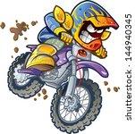 dirt bike motorcycle rider... | Shutterstock .eps vector #144940345