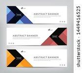 abstract web banner template ... | Shutterstock .eps vector #1449416525