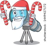 santa with candy toy telescope... | Shutterstock .eps vector #1449427172
