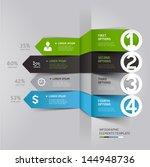 modern arrow infographics... | Shutterstock .eps vector #144948736