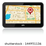 gps device with map | Shutterstock .eps vector #144951136
