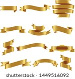 gold ribbon set inisolated... | Shutterstock .eps vector #1449516092