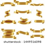 gold ribbon set inisolated... | Shutterstock .eps vector #1449516098