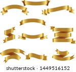 gold ribbon set inisolated... | Shutterstock .eps vector #1449516152