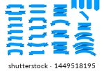flat ribbons banners flat... | Shutterstock . vector #1449518195