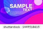 wavy geometric background.... | Shutterstock .eps vector #1449518615