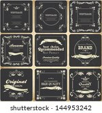 retro cards and labels with... | Shutterstock .eps vector #144953242