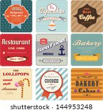 set of vintage cards and labels ... | Shutterstock .eps vector #144953248