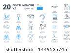 dental prosthesis icon set in... | Shutterstock .eps vector #1449535745