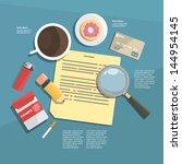 infographic. desktop | Shutterstock .eps vector #144954145