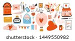 love post office. many various... | Shutterstock .eps vector #1449550982