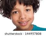 cute casual mixed race afro... | Shutterstock . vector #144957808