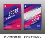 layout template design  sport... | Shutterstock .eps vector #1449595292