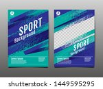 layout template design  sport... | Shutterstock .eps vector #1449595295