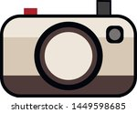 flat polaroid camera retro... | Shutterstock .eps vector #1449598685