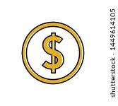 coin template icon  coin... | Shutterstock .eps vector #1449614105