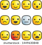 square emoticon vectors stroke... | Shutterstock .eps vector #1449630848