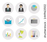 vector icons set of business...