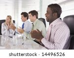 four businesspeople in a... | Shutterstock . vector #14496526