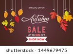 autumn background and... | Shutterstock .eps vector #1449679475