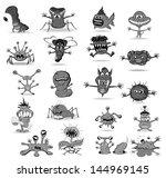 set of funny monsters | Shutterstock .eps vector #144969145