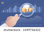 search etf investments. graphic ... | Shutterstock .eps vector #1449736322
