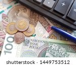 polish currency  pln  stack of... | Shutterstock . vector #1449753512