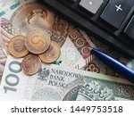 polish currency  pln  stack of... | Shutterstock . vector #1449753518