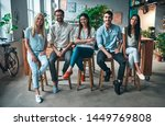 group of young business people... | Shutterstock . vector #1449769808