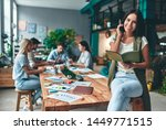 group of young business people... | Shutterstock . vector #1449771515
