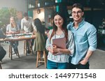 group of young business people... | Shutterstock . vector #1449771548