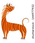abstract wild animal in the... | Shutterstock .eps vector #144977932